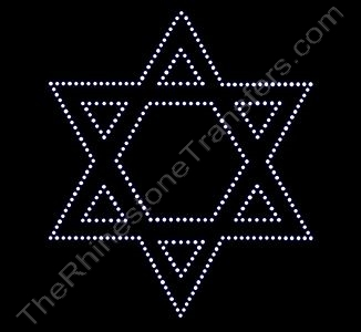 Star of David - 7.5 Inch Height - Rhinestone Design File Download