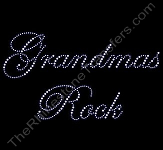 Grandmas Rock - Fancy Script - Rhinestone Design File Download