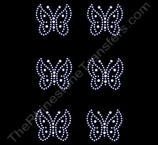 Petite Butterfly - 6 per Sheet - Rhinestone Design File Download
