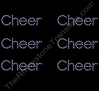 Petite Cheer - 6 per Sheet - Rhinestone Transfer