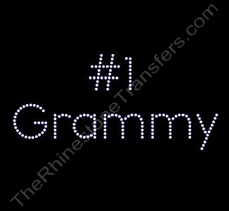 #1 Grammy - Rhinestone Design File Download