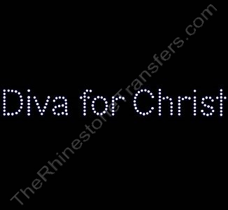 Diva for Christ - Rhinestone Design File Download