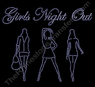 Girls Night Out - with 3 Ladies - Rhinestone Transfer