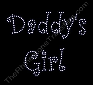 Daddy's Girl - Curlz Font - Clear - Rhinestone Transfer