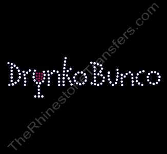 Drunko Bunco - Rhinestone Transfer