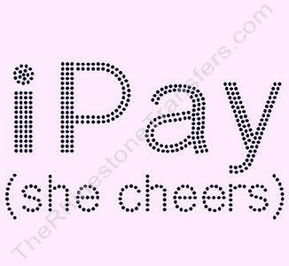 iPay (she cheers) - Black - Rhinestone Transfer