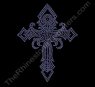 Large Twister Cross - Rhinestone Transfer