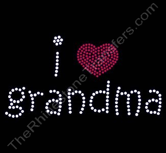 i Heart grandma - Rhinestone Design File Download