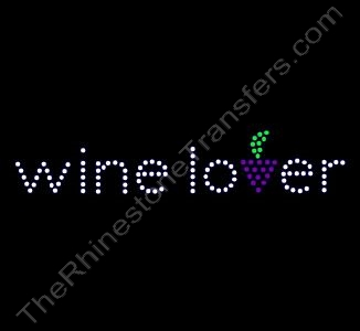 wine lover - Rhinestone Transfer
