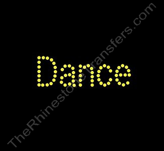 Dance - Citrine - Rhinestone Transfer