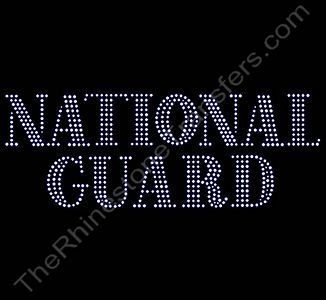NATIONAL GUARD - Rhinestone Transfer