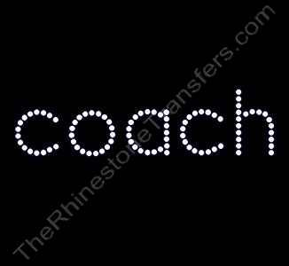coach - All Lower Case - Rhinestone Transfer