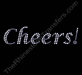 Cheers! - Rhinestone Transfer