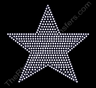 Star - 7 Inches - Filled - Rhinestone Transfer