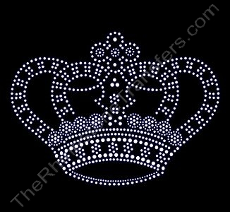 Crown - LARGE - Rhinestone Transfer