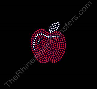 Apple - 3 Inches - Rhinestone Transfer