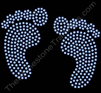 Baby Feet - Filled - Lt. Sapphire - LARGE - Rhinestone Design File Download