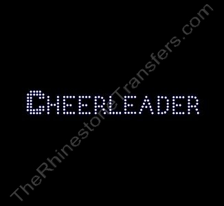 CHEERLEADER - Small - with Bold C - Rhinestone Transfer