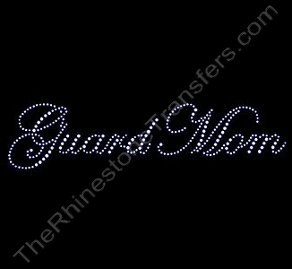 Guard Mom - Fancy Script - Rhinestone Transfer