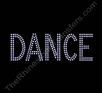 DANCE - 2 Rows of Stones - 6.1 Inches Wide - Clear - Rhinestone Transfer