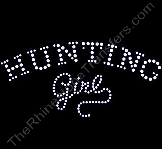 Hunting Girl - Arched - Clear - Rhinestone Design File Download