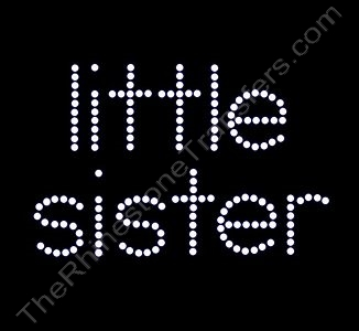 little sister - All Lower Case - Clear - Rhinestone Design File Download