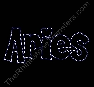 Aries - Retro Style - Rhinestone Transfer