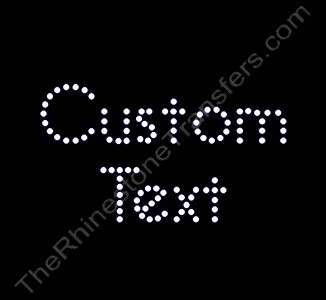 Custom Text - Bella Font - 1.0 Inches Height - 3mm Spangles - Spangle Transfer