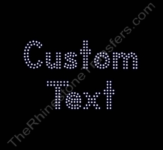Custom Text - Double Lined Letters - 1.1 Inches Height - 2mm Spangles - Spangle Transfer