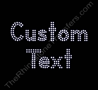 Custom Text - Double Lined Letters - 1.4 Inches Height - 3mm Spangles - Spangle Transfer