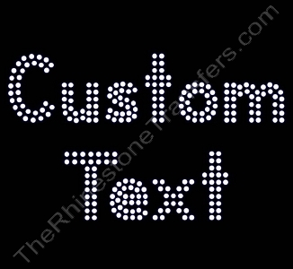 Custom Text - Double Lined Letters - 1.9 Inches Height - 4mm Spangles - Spangle Transfer