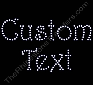 Custom Text - Harrington Font - 2.0 Inches Height - 4mm Spangles - Spangle Transfer