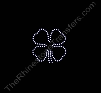 4 Leaf Clover - 1.9 Inches - Rhinestone Transfer