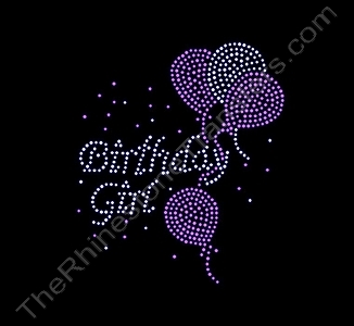 Birthday Girl - with Balloons - Spangle Transfer