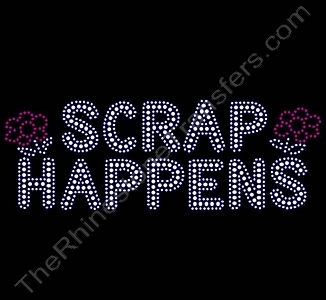 SCRAP HAPPENS - Rhinestone Transfer