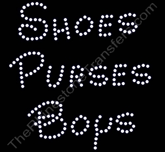 Shoes Purses Boys - Rhinestone Transfer