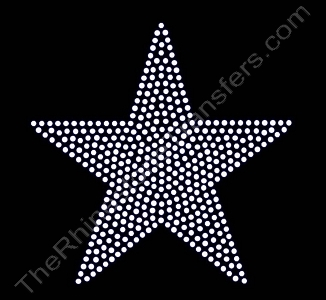 Star - 5 Inches - Filled - Rhinestone Transfer