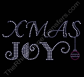 XMAS JOY - with Ornament - Rhinestone Transfer