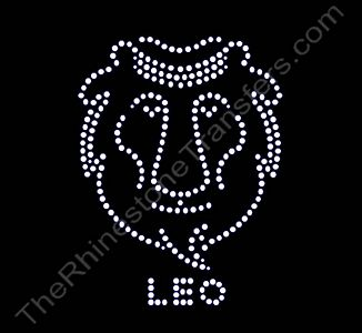Horoscope Sign LEO - Rhinestone Transfer