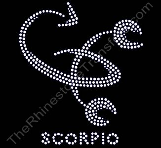 Horoscope Sign SCORPIO - Rhinestone Transfer