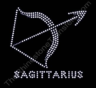 Horoscope Sign SAGITTARIUS - Rhinestone Transfer