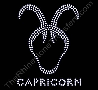 Horoscope Sign CAPRICORN - Rhinestone Transfer