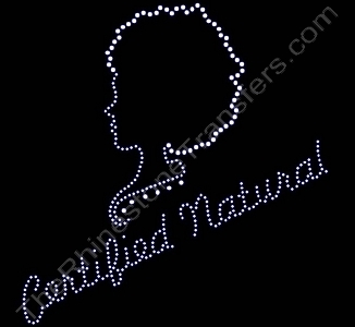 Certified Natural - with Girl Profile - Rhinestone Transfer