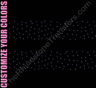Strip of Scattered Design - 12.9 x 2.1 - ss6 Stones - 2 Strips per Sheet - CUSTOMIZE YOUR COLORS - Rhinestone Design File Download