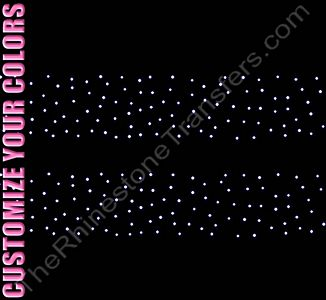 Strip of Scattered Design - 12.9 x 2.1 - ss10 Stones - 2 Strips per Sheet - CUSTOMIZE YOUR COLORS - Rhinestone Design File Download