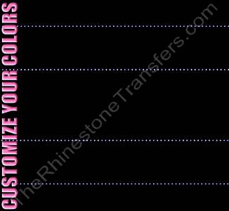 Strip of 2 Lines - 12.9 x 2.1 - ss6 Stones - 2 Strips per Sheet - CUSTOMIZE YOUR COLORS - Rhinestone Transfer