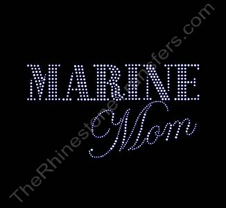 MARINE Mom - Rhinestone Transfer