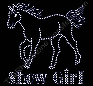 Show Girl - with Horse - Rhinestone Transfer