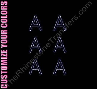 Greek Letter - Alpha - 1.7 Inches Height - ss6 Stones - CUSTOMIZE YOUR COLORS - Rhinestone Design File Download