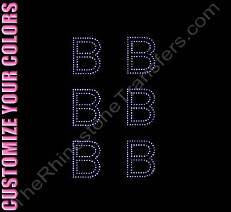 Greek Letter - Beta - 1.7 Inches Height - ss6 Stones - CUSTOMIZE YOUR COLORS - Rhinestone Design File Download